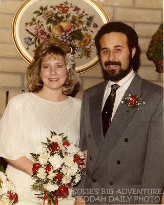 Susie and Adnan on their wedding day