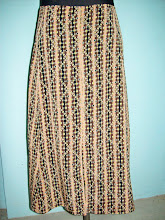 pollera larga de seda varios talles