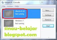 mengganti nama virtual machine