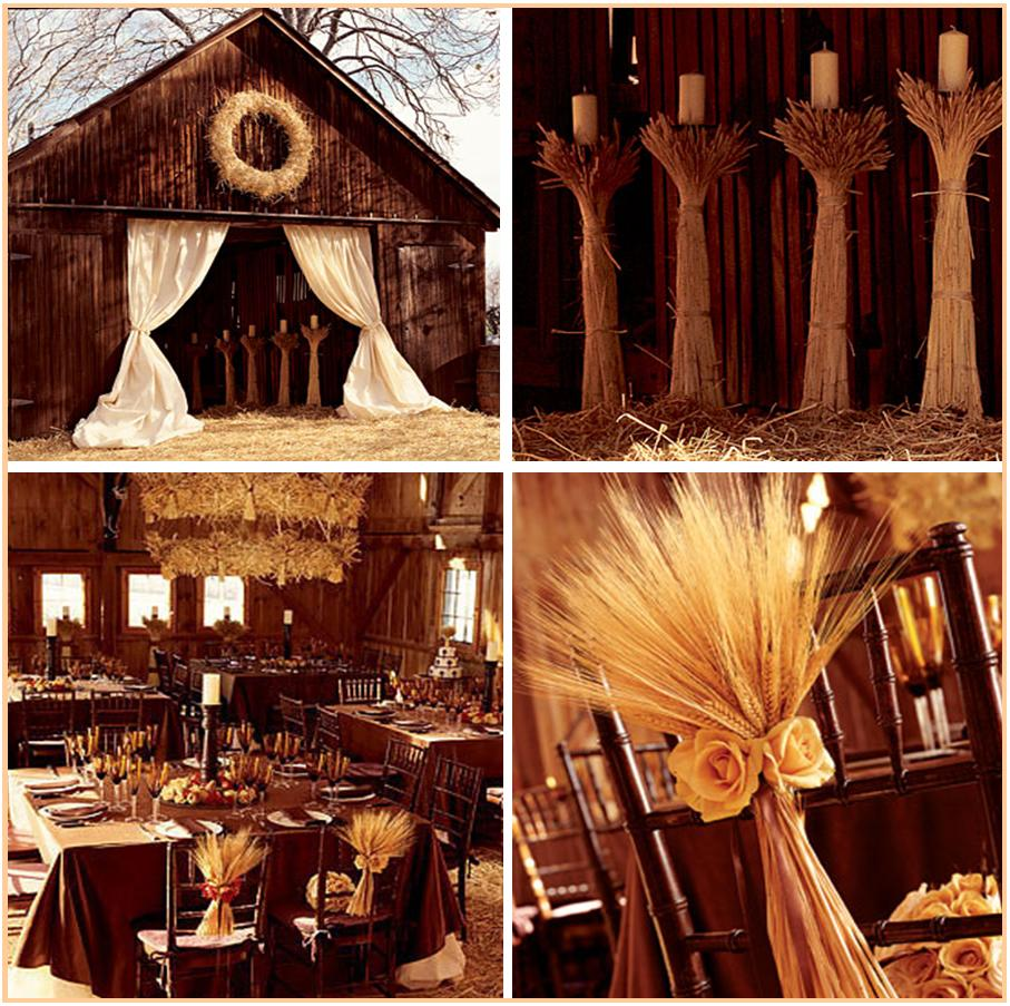 All that glitz glamour your fall harvest wedding for Autumn wedding decoration