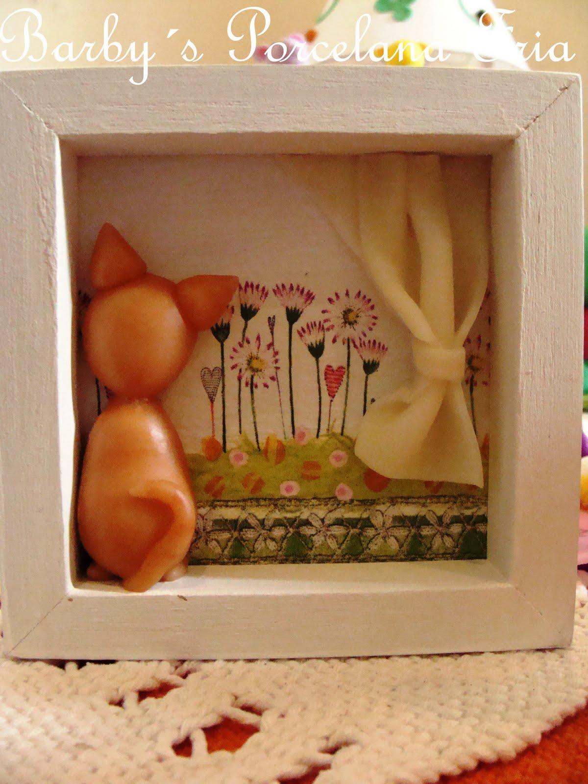 Barbys Porcelana Fria cuadros decorados con Gatito