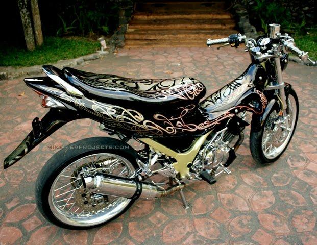 Modifikasi Motor Jupiter Mx Stiker