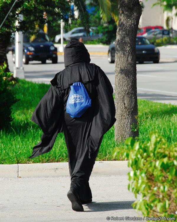 Grim Reaper walking home?