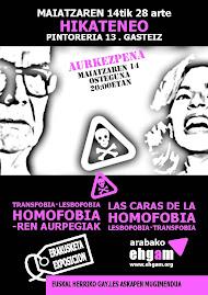 """2009-05-14/28 . Gasteiz > """"HOMOFOBIAREN AURPEGIAK"""" ERAKUSKETA"""
