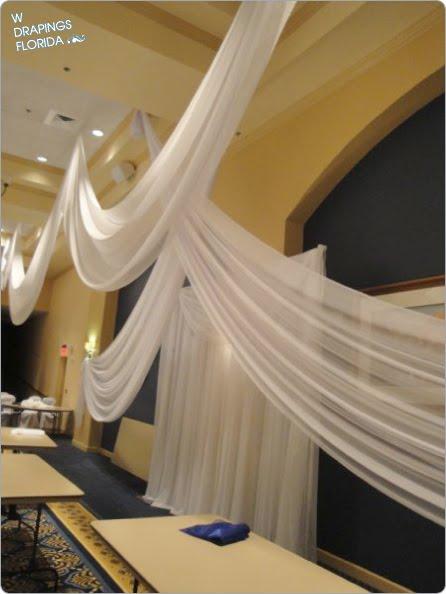 Custom Chiffon Ceiling Draping Wedding Reception at Arlington Ridge Golf