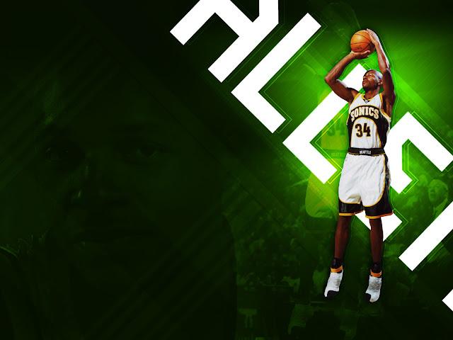 ray allen shooting basketball. Ray-Allen-Shooting-Wallpaper.
