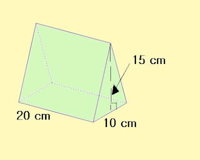 how to find the area of a triangular prisim