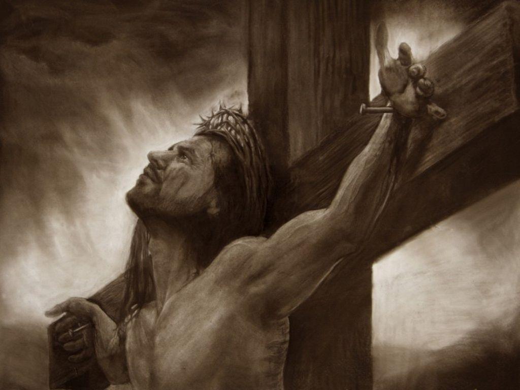 La mort divine, atroce et scientifique de Jésus pour notre Salut... Crucifixion-wallpapers-1501