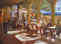 """French Café"" de Iain Vellacott"