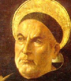 Saint Thomas d'Aquin, docteur angélique: commentateurd'Aristote, auteur de la Somme théologique.