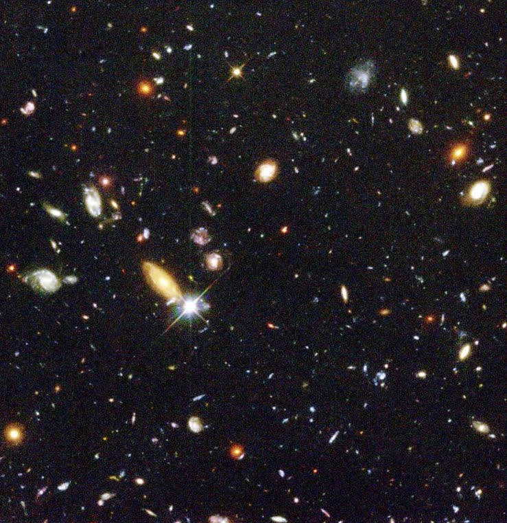 125 billion galaxies in the universe, each one containing an average of two hundred billion stars.