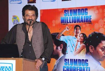 Anil Kapoor launching the DVD of Slumdog Millionaire
