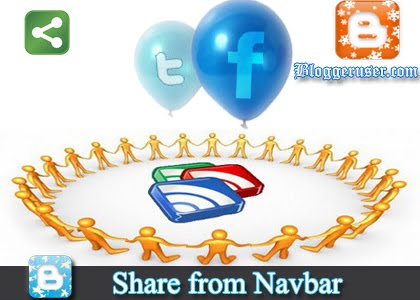 Share Posts from your Blogger NavBar