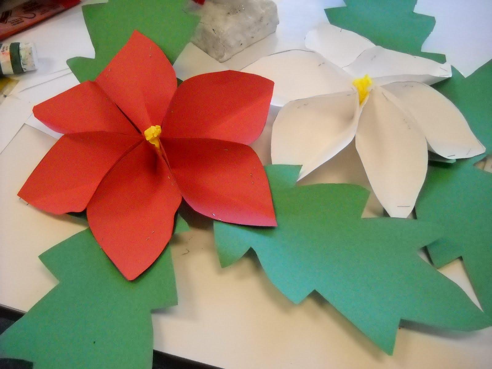 3 D Paper Poinsettias