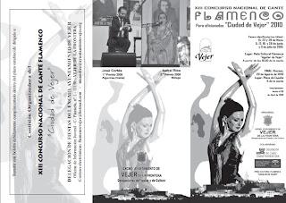 Cartel del XIII Concurso Nacional de Cante Flamenco de Vejer de la Frontera