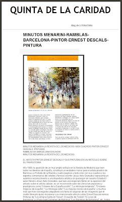 LITERATURA-REVISTAS-MINUTOS MENARINI-ARTE-ERNEST DESCALS