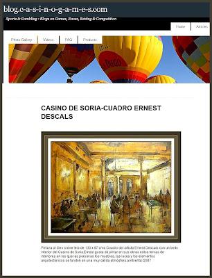CASINOS-CASINO-JUEGO-GAMES-ERNEST DESCALS-PINTURAS