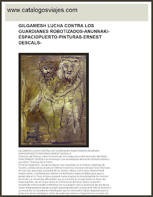 ANUNNAKI-GILGAMESH-MESOPOTAMIA-SUMERIA-ERNEST DESCALS-PINTURA