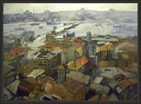 ESTAMBUL-ISTAMBUL-ISTANBUL-PANORAMICAS-ERNEST DESCALS-PINTURAS
