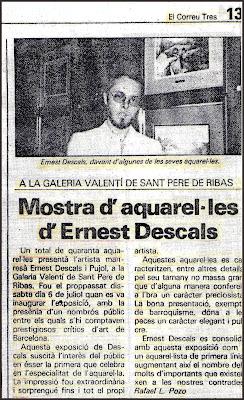 ACUARELAS-EXPOSICION-ERNEST DESCALS-NOTICIAS-PRENSA