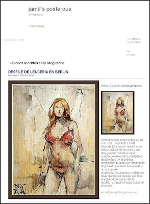 PINTURA EROTICA-DEFILES-LENCERIA-ERNEST DESCALS