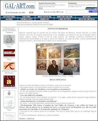 GALART-WEB-COMARRUGA-EXPOSICION PINTURA-ERNEST DESCALS