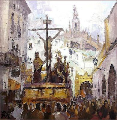 la semana santa sevilla. SEVILLA -LA PINTURA DE ERNEST