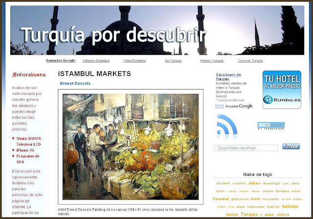 ESTAMBUL-MERCADOS-ERNEST DESCALS-TURQUIA POR DESCUBRIR
