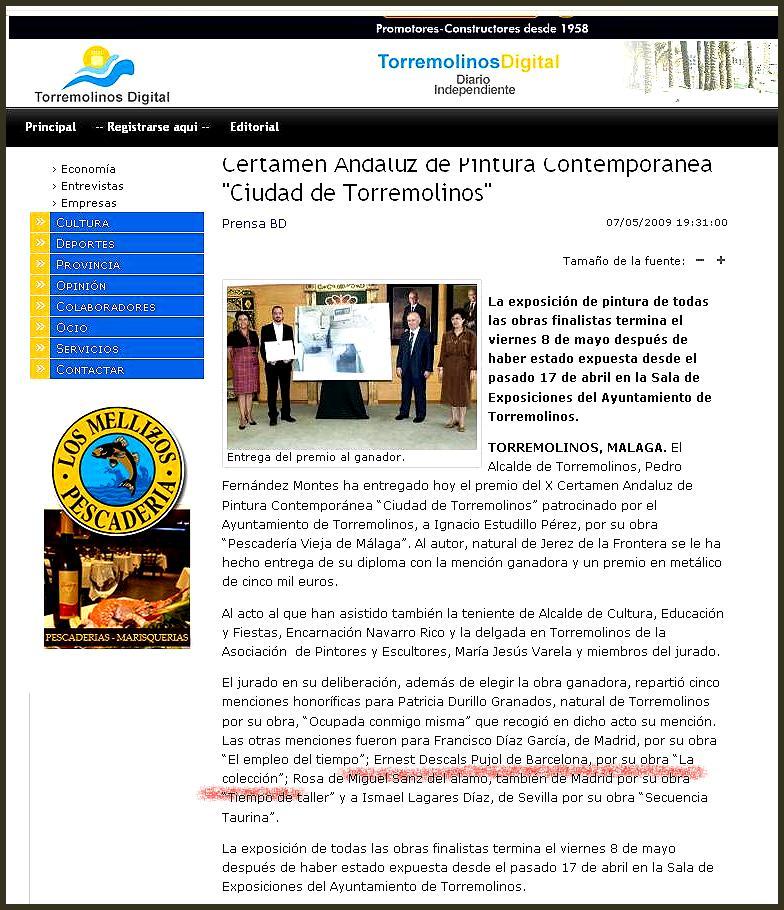 PINTURA CONTEMPORANEA-CIUDAD DE TORREMOLINOS-ERNEST DESCALS-PRENSA DIGITAL