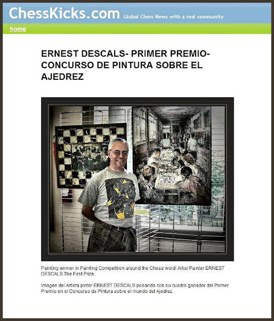 CHESS-AJEDREZ-ESCACS-ERNEST DESCALS-PREMIOS PINTURA
