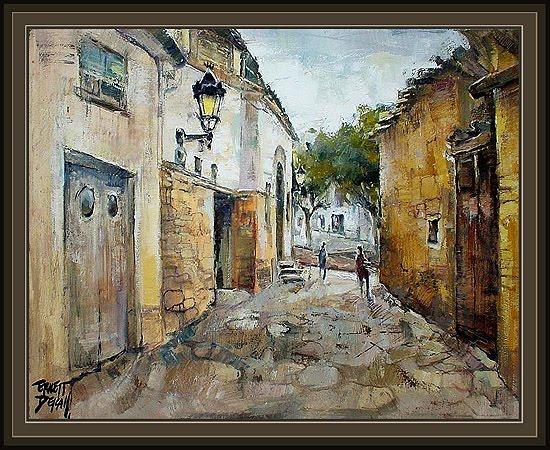 Cuadros ernest descals pinturas casserres bergueda calles - Cuadros modernos valencia ...