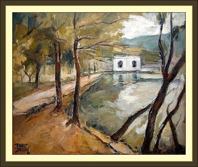 Cuadros ernest descals pinturas banyoles estany llac for Pintura para estanques