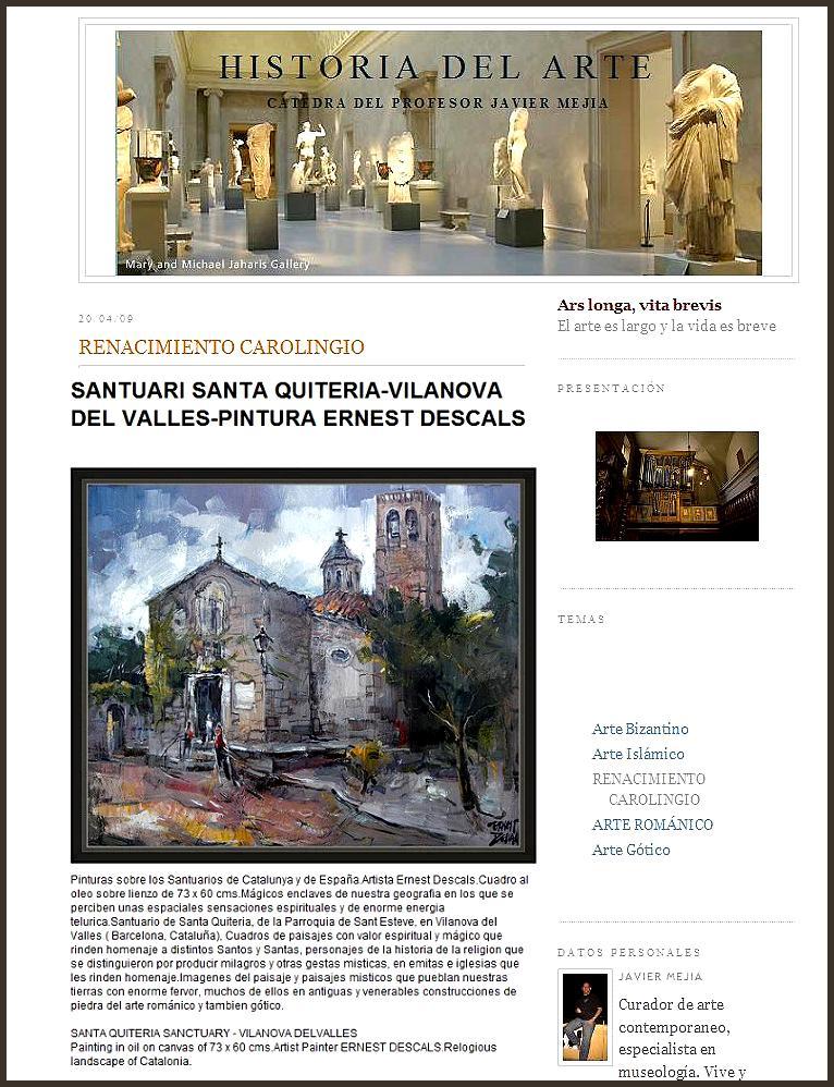 SANTUARIO SANT QUITERIA-VILANOVA DEL VALLES-ERNEST DESCALS