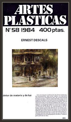 ARTES PLASTICAS-REVISTAS ARTE-PEDRERA-BARCELONA-ERNEST DESCALS-PINTOR