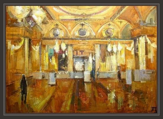 Cuadros ernest descals pinturas salon de baile palacio - Cuadros de salon ...