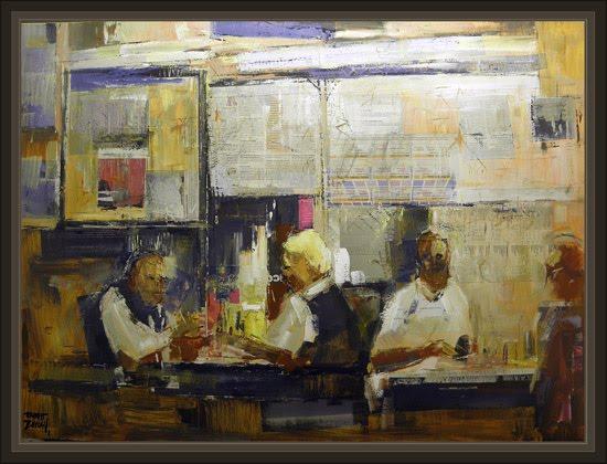 Cuadros ernest descals pinturas bar bares encuentros - Cuadros para bares ...