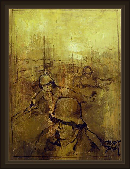 WW2-SVEN HASSEL-PINTURA-MILITAR-ART-ARTE-PAINTING-ERNEST DESCALS