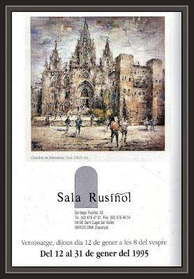 SANT CUGAT DEL VALLES-SALA RUSIÑOL-CATALOGOS-EXPOSICION-PINTURA-ERNEST DESCALS