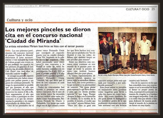 MIRANDA DE EBRO-BURGOS-PRENSA-PREMIOS-PINTURA-ERNEST DESCALS