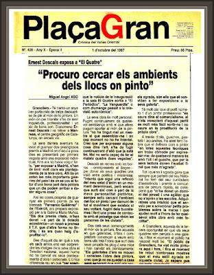 GRANOLLERS-PLAÇA GRAN-EL QUATRE-SALA D´ART-ENTREVISTA-PINTOR-ERNEST DESCALS-PRENSA