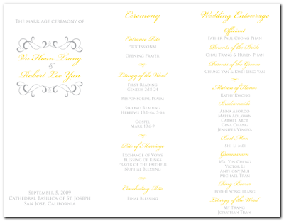 Trifold Wedding Programs on Robert   Wedding Monogram  Table Numbers  Menu  And Tri Fold Program