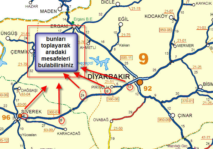 T.C Türkiye Karayolları Bütün Haritası Sorunsuz İndirme Download