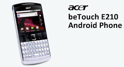 The latest Smartphone from Acer beTouch E210
