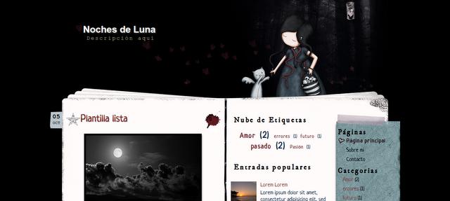 Plantilla Noches de Luna