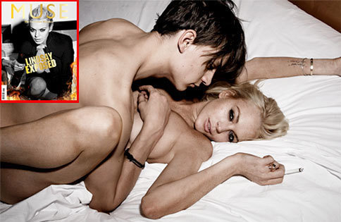 Lindsay Lohan's Threesome photoshoot in Muse Magazine