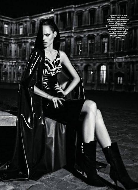 Freja Beha Erichsen in Paris Vogue
