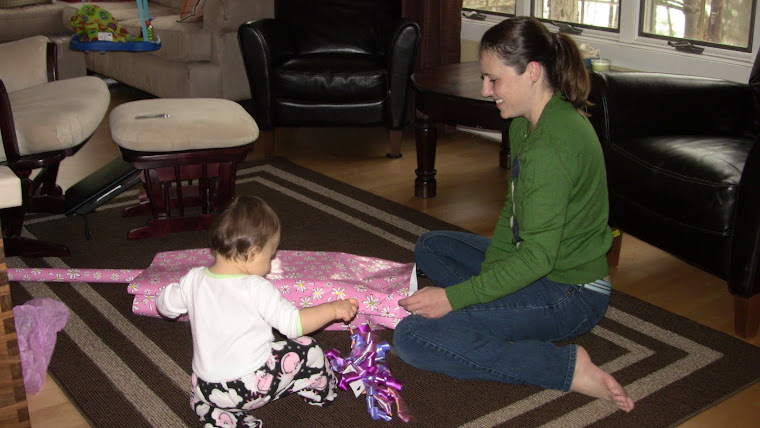 Helping wrap a birthday present