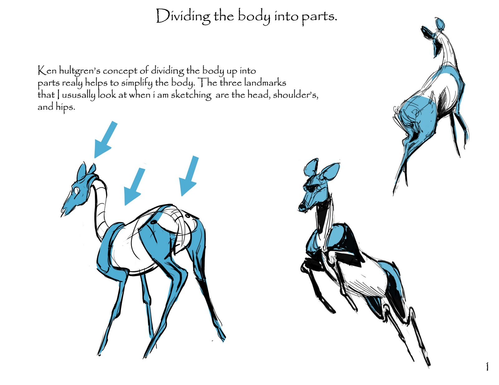 Animal and Life Drawing Blog: First Post! Sketching Deer
