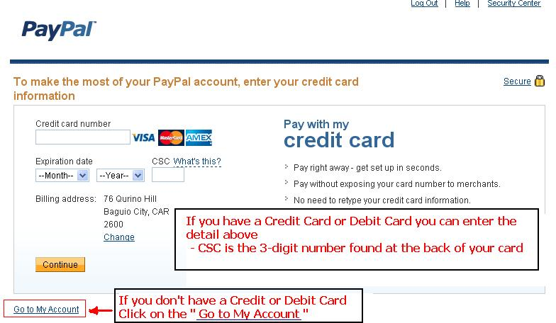 how to add money to paypal using credit card