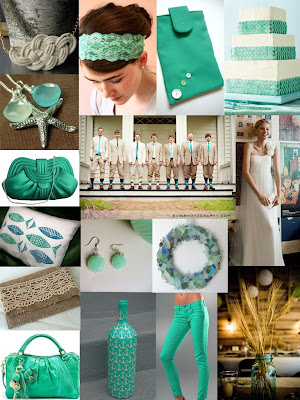 Sea Green Wedding Color Inspiration Board Images from Ashley 39s Bride Guide